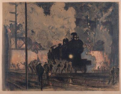 Sir Frank Brangwyn, 'Steam Train (Nocturn)', ca. 1910