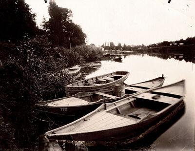 Eugène Atget, 'Bords de Marne (Barques), Le Perreux (Seine)', 1903
