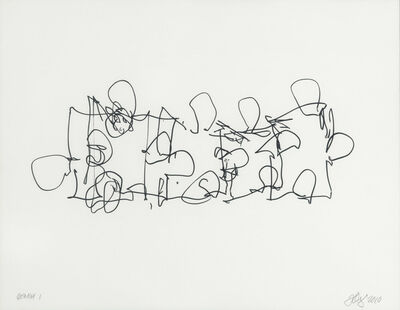 Frank Gehry, 'Puzzled #3 (Black State)', 2012
