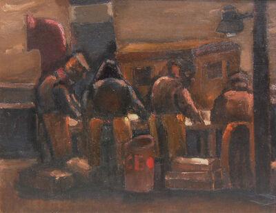 Josef Herman RA, 'Sorting Fish', 1958