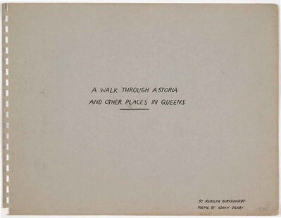 Rudy Burckhardt, 'A Walk through Astoria and Other Places in Queens', 1943