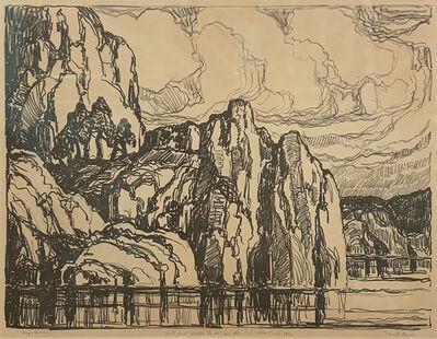 Birger Sandzén, 'Granite Banks', 1923