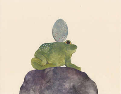 Audrey Helen Weber, 'Frog with Egg and Rock', 2017
