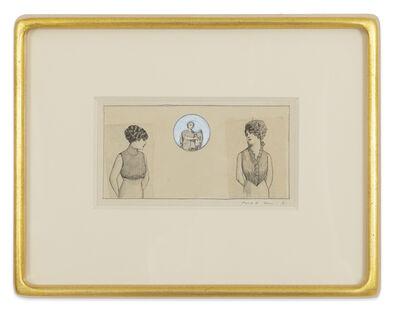 Max Ernst, 'Deux jeunes dames', 1972