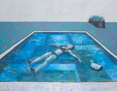 Katya Tzareva, 'Alyona is swimming in a pool', 2015