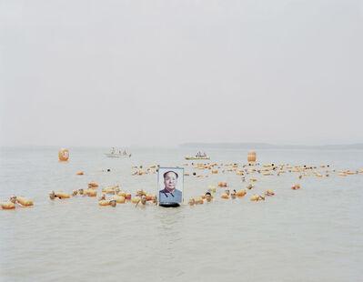 Zhang Kechun, 'People Crossing the Yellow River with a Photo of Mao Zedong, Henan', 2012
