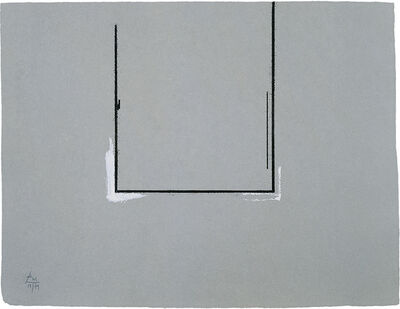 Robert Motherwell, 'Gray Open with White Paint', 1981