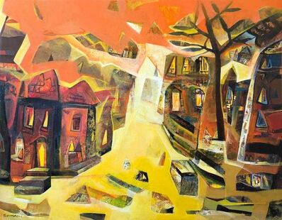 """Tapas Ghoshal, 'Abstract, Acrylic on Canvas, Red, Blue, Yellow Colours by Contemporary Artist """"In Stock""""', 2016"""
