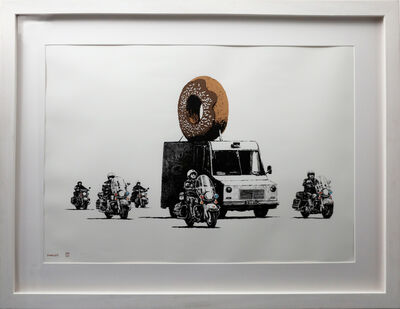 Banksy, 'Donuts Chocolate signed', 2009