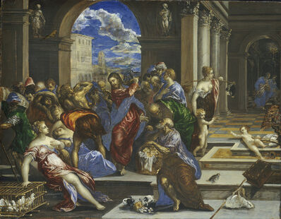 El Greco, 'Christ Cleansing the Temple', probably before 1570