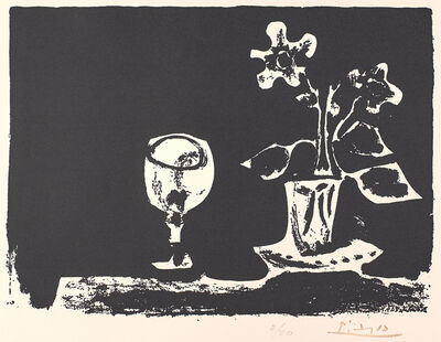 Pablo Picasso, 'Still Life with Glass and Flowers, from The Poem of Paul Eluard'