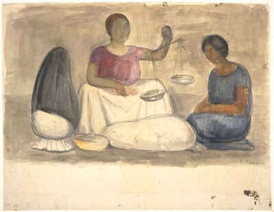 Diego Rivera, 'Vendedora de Tabaco (The Tobacco Seller)', 1923