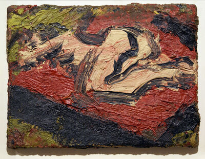 Leon Kossoff, 'Nude on Bed', 1971