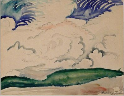 William Zorach, 'LANDSCAPE WITH CLOUDS', 1913