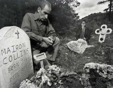 Shelby Lee Adams, 'Brothers at Borther's and Mother's Grave', 1994