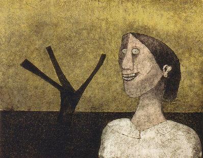Rufino Tamayo, 'Mujer Sonriente', 1989