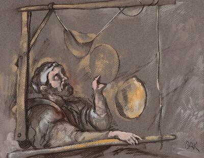 Samuel Bak, 'Study for the Voyager', 2017