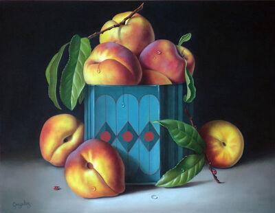George Gonzalez, 'Peaches in Blue Tin', 2019
