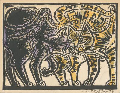 John Craxton, 'Two Cats', 1977