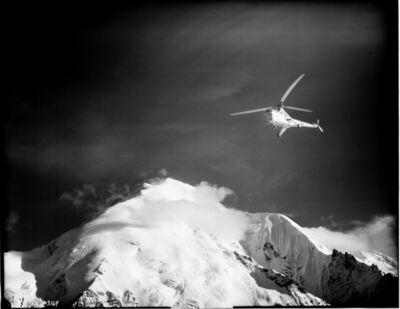 Bradford Washburn, 'Sikorsky H5G Helicopter, Mount Brooks, Alaska', 1949
