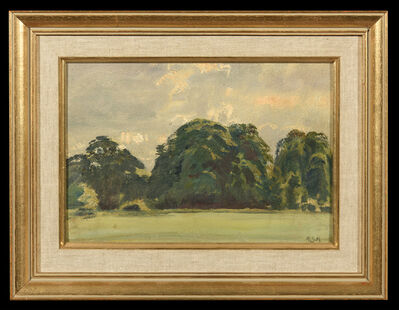 Alfred James Munnings, 'Trees and Sky (studies), (A Pair of Works)', 1900-1950