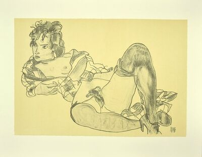Egon Schiele, 'Reclining Woman', 2007