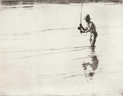 Frank Weston Benson, 'Casting for Salmon', 1929