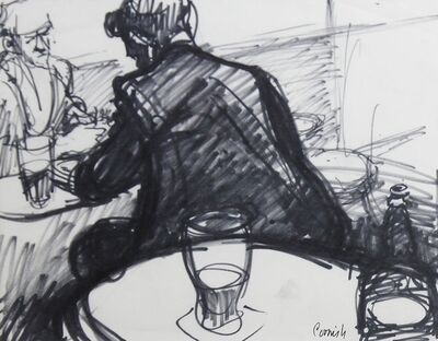 Norman Cornish, 'Men playing dominoes', ca. 1965