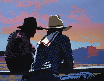 Billy Schenck, 'Two Buckaroos State I '