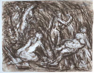 Leon Kossoff, 'From Cezanne: The Temptation of St. Anthony', 1980-1988