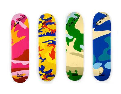 Andy Warhol, 'Camouflage (set of 4 skateboard decks)', 2007