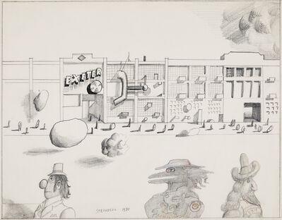 Saul Steinberg, 'Exeter', 1970