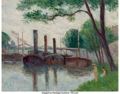 Maximilien Luce, 'Les bords de la Seine près de la Roche-Guyon', 1935