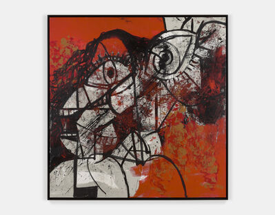 George Condo, 'Red and Black Diagonal Portrait', 2016