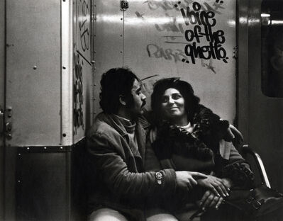 Helen Levitt, 'New York City (couple on subway)', ca. 1974