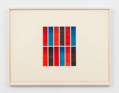 Don Dudley, 'Two Reds, Blue, and Black', 1972