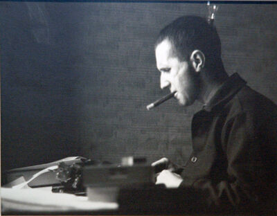 Ellen Auerbach, 'Bertolt Brecht Typing, London', 1935