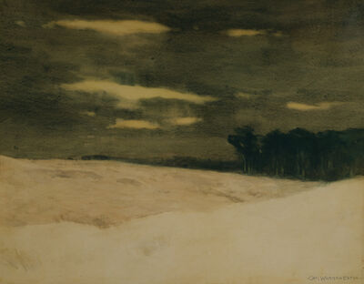 Charles Warren Eaton, 'Snow Slopes', ca. 1900