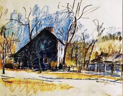 Wolf Kahn, 'Thompson House on Old Country Road, Setauket, NY (Grace Borgenicht Gallery)', 1980