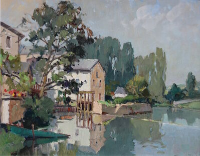 Georges Charles Robin, 'Givray, La Charente - Le Matin, Août'