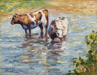 Francis Picabia, 'Deux vaches s'abreuvant', ca. 1906
