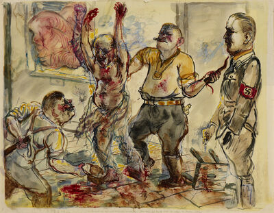 George Grosz, 'Interrogation', 1938