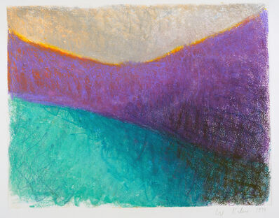 Wolf Kahn, 'Untitled (Purple Dip)', 1992