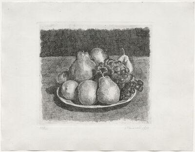 Giorgio Morandi, 'Natura morta con pere e uva, 1927 (Vitali 36)', 1927