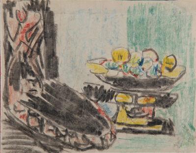 Ernst Ludwig Kirchner, 'Stilleben neben geschnitztem Stuhl', ca. 1909