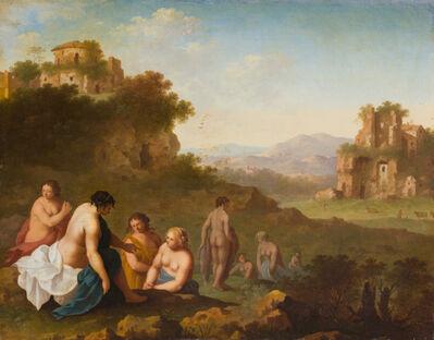 Cornelis van Poelenburgh, 'Bathers in an Italianate Landscape with Ruins', 17th Century