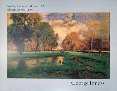 George Inness, 'George Innes, Los Angeles County Museum of Art, February 02-May 11, 1986, Continuous Tone (No Dots) Lithographic Poster', 1986