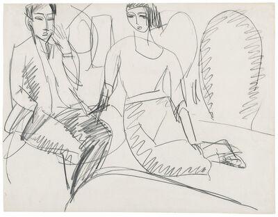 Ernst Ludwig Kirchner, 'Paar im Gespräch, Erna und Gewecke', ca. 1912