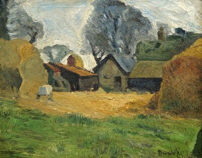 Ronald Ossory Dunlop, 'View of a farmyard'