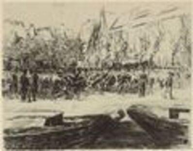 Max Liebermann, 'Rindermarkt in Leiden', 1900